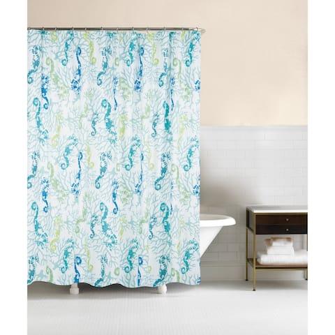 Aquarius 72x72 Cotton Shower Curtain