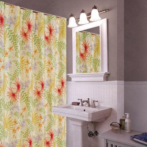 Sea Flora 72x72 Cotton Shower Curtain