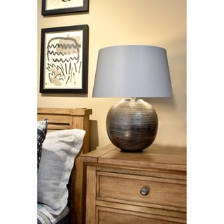Link to Caesar Silver Transitional Table Lamp By Lucas McKearn Similar Items in Table Lamps