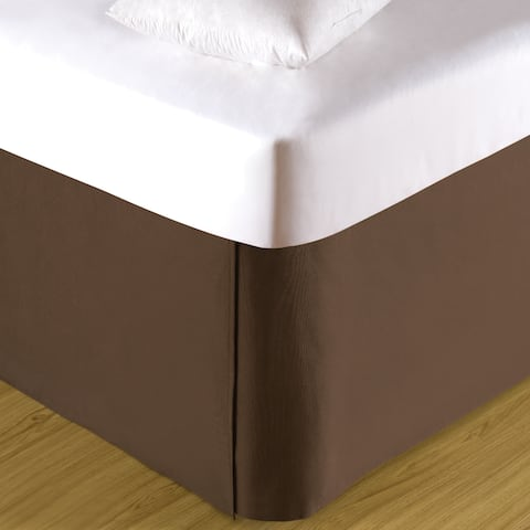 Tailored Pleated Cotton 18-inch Drop Bed Skirt