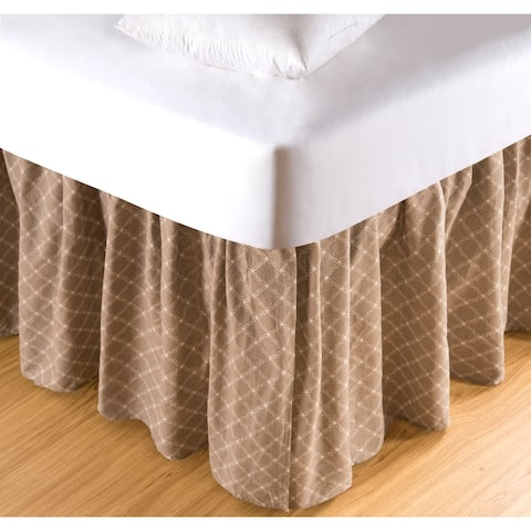 Seraphina Clay 18-inch Drop Bed Skirt