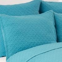 Basketweave Cotton Euro Shams (Set of 2)