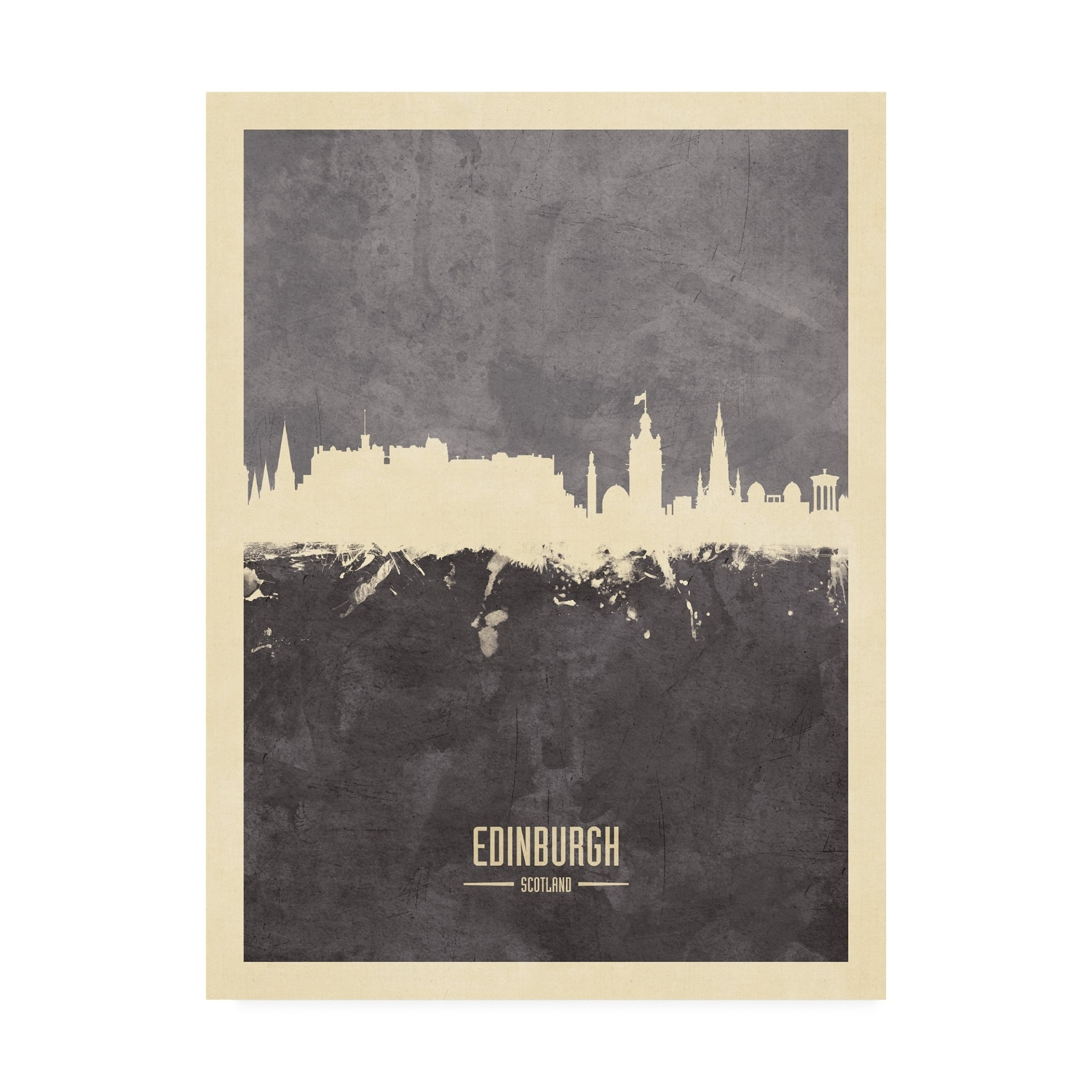 Edinburgh Bright Cityscape Large Wall Art Print 18X24