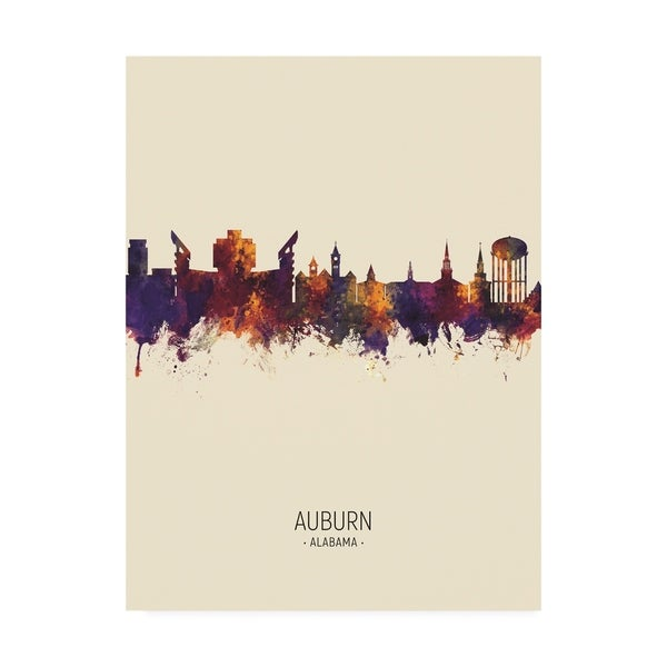 Shop Michael Tompsett 'Auburn Alabama Skyline Portrait III