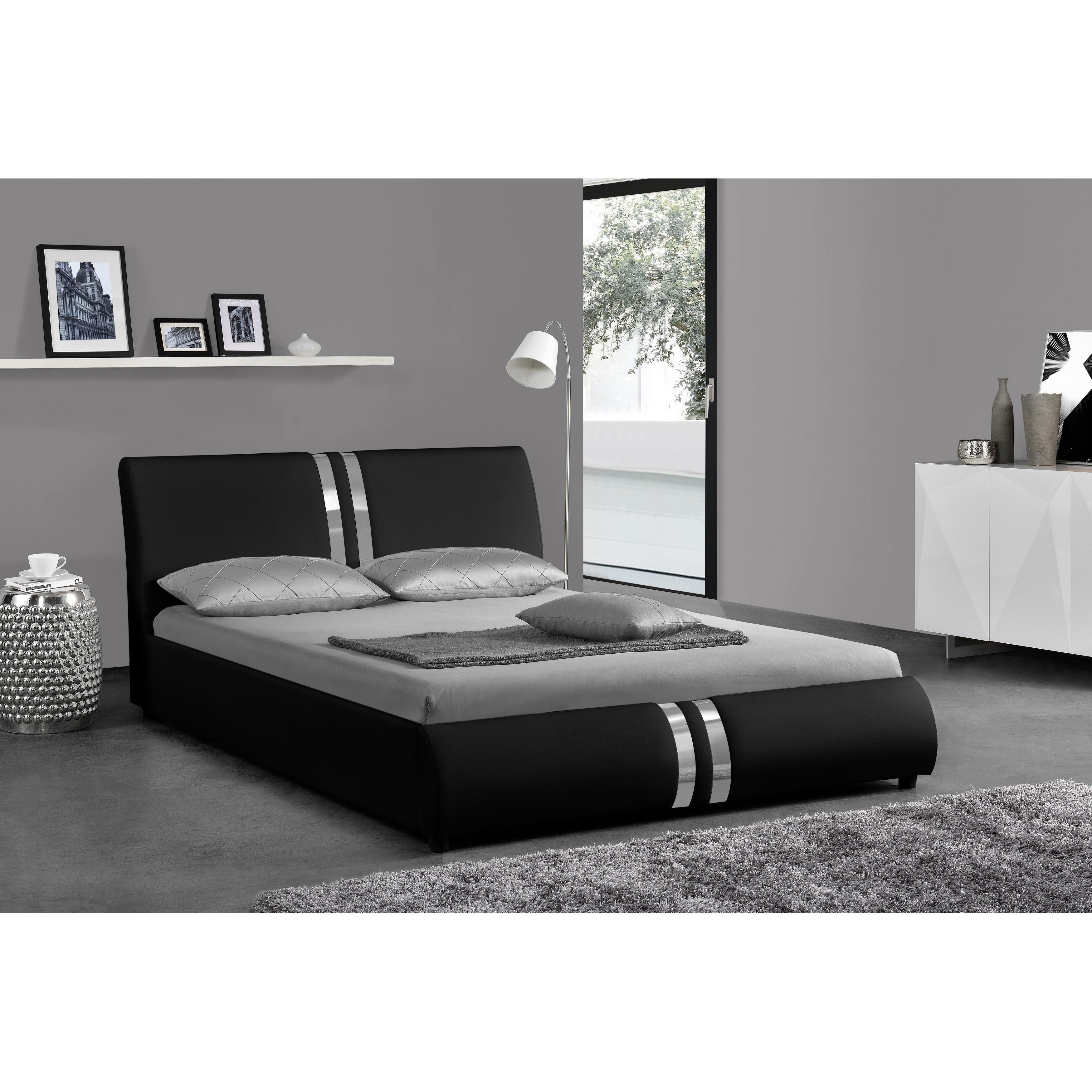 Picture of: Madrid Black Platform Bed On Sale Overstock 27617251