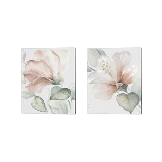 Lanie Loreth 'Neutral Hibiscus' Canvas Art (Set of 2)