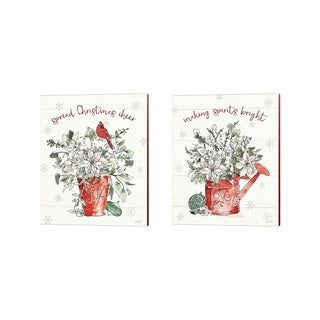 Anne Tavoletti 'Modern Farmhouse Christmas B' Canvas Art (Set of 2)
