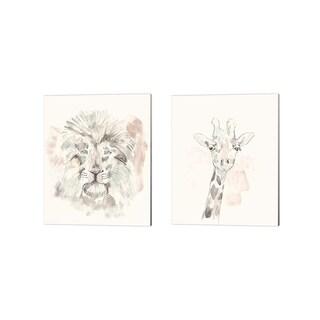 Jennifer Goldberger 'Pastel Safari' Canvas Art (Set of 2)