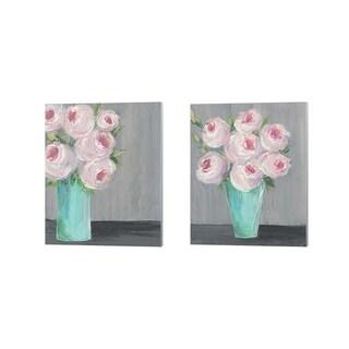 Regina Moore 'Sorbet Floral' Canvas Art (Set of 2)