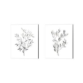 Emma Scarvey 'Paynes Grey Botanicals' Canvas Art (Set of 2)