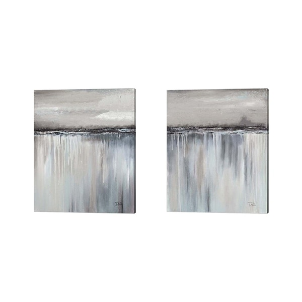 Patricia Pinto 'Muted Paysage' Canvas Art (Set of 2)