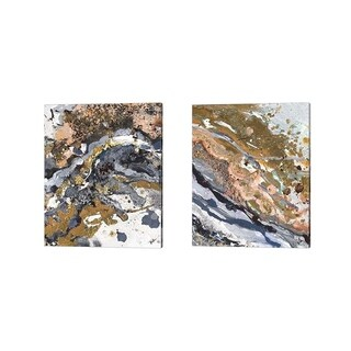 Patricia Pinto 'Turbulence Rectangle' Canvas Art (Set of 2)