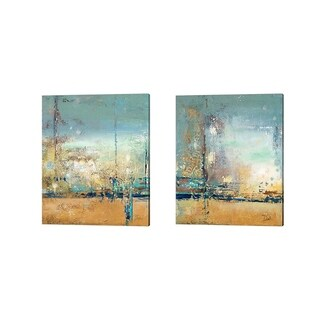 Patricia Pinto 'Adventure' Canvas Art (Set of 2)