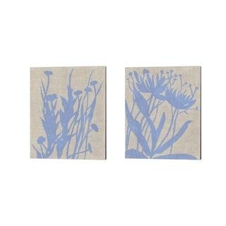 Chariklia Zarris 'Dusk Botanical A' Canvas Art (Set of 2)