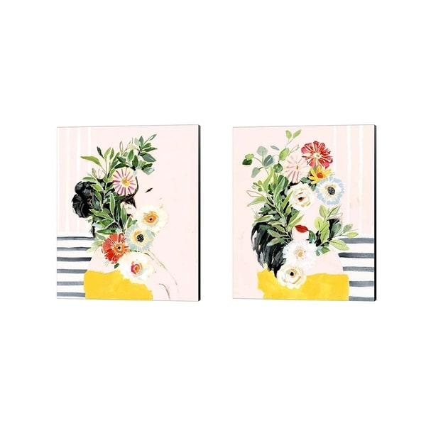 Victoria Borges 'Grow Your Own Way' Canvas Art (Set of 2)
