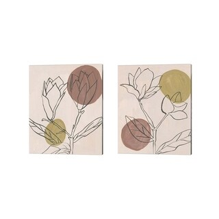 Melissa Wang 'Blush' Canvas Art (Set of 2)