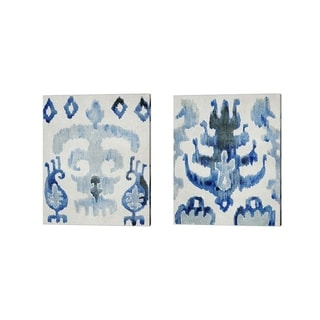 Chariklia Zarris 'Sapphire Ikat' Canvas Art (Set of 2)