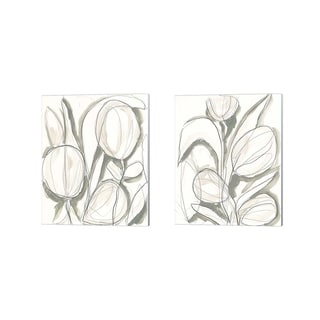 June Erica Vess 'Neutral Tropical' Canvas Art (Set of 2)