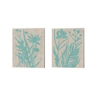 Chariklia Zarris 'Dusk Botanical B' Canvas Art (Set of 2)