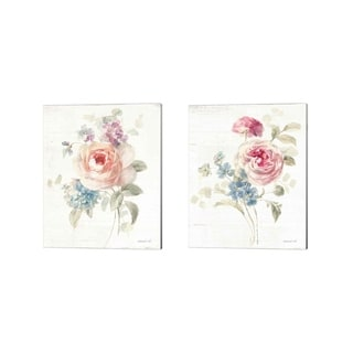 Danhui Nai 'Cottage Garden' Canvas Art (Set of 2)