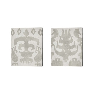 Chariklia Zarris 'Shadow Ikat' Canvas Art (Set of 2)