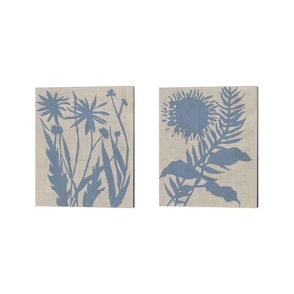 Chariklia Zarris 'Dusk Botanical C' Canvas Art (Set of 2)