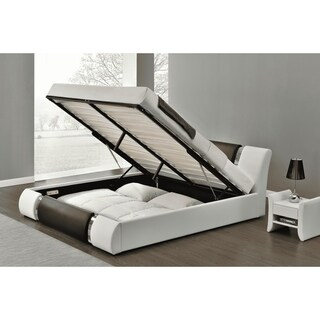 Link to Strick & Bolton Cosenza Black and White Platform Storage Bed Similar Items in Bedroom Furniture