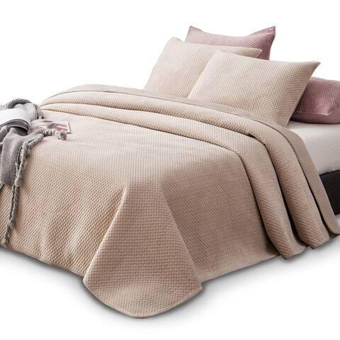 Kasentex Plush Poly Velvet Quilt Set Brushed Microfiber Machine Washable