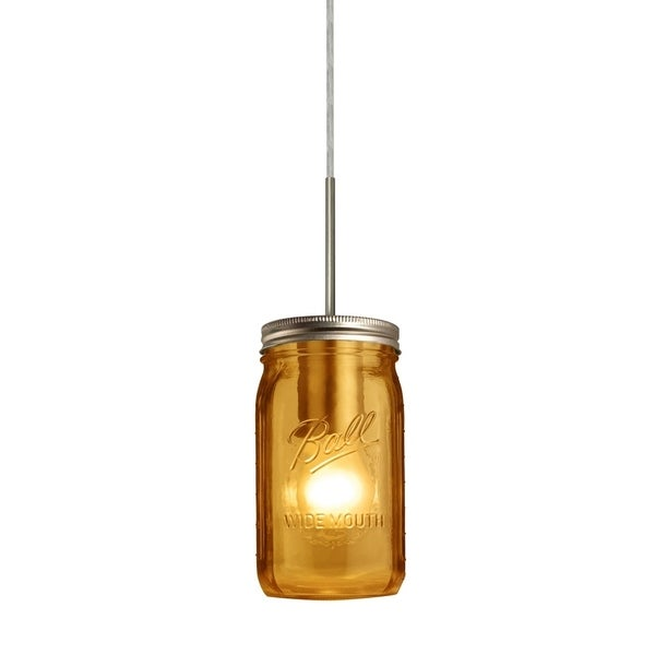 Besa Milo 4, 1-Light Pendant - 3.5 in Dia. x 6.5 in H. Glass Shade