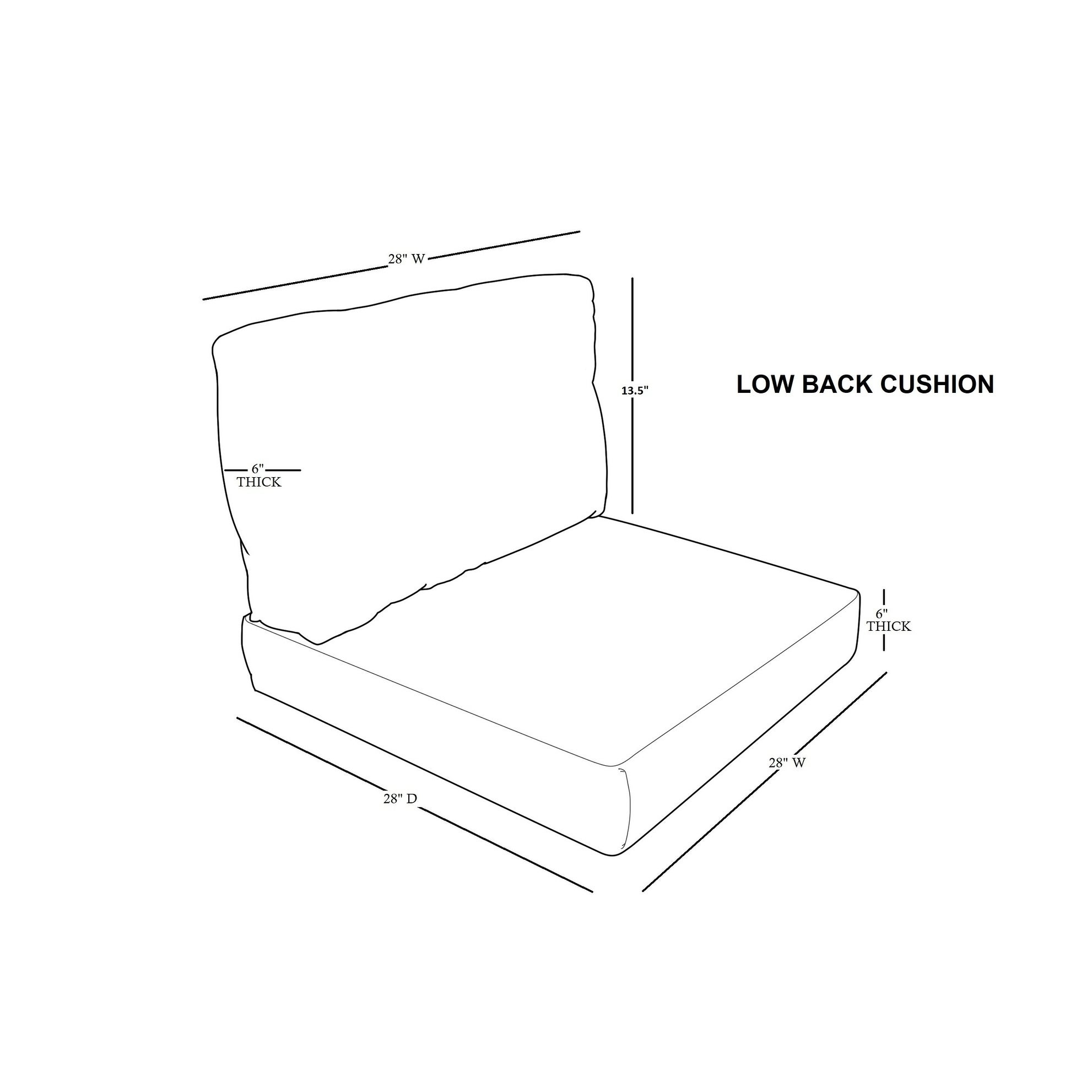 Phenomenal Covers For Low Back Chair Cushions 6 Inches Thick Gmtry Best Dining Table And Chair Ideas Images Gmtryco