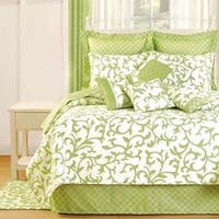 Serendipity Green Cotton Quilt