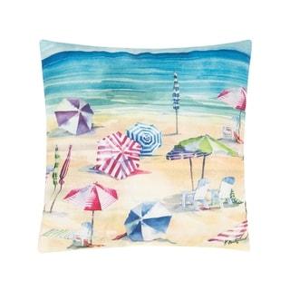 Rainbow Beach Indoor/Outdoor 18 x 18 Pillow