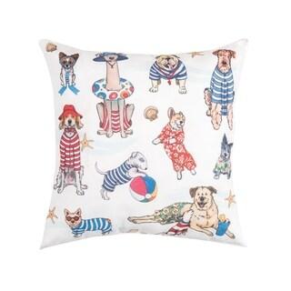 Beach Dogs Indoor/Outdoor 18 x 18 Pillow