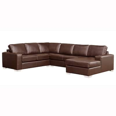 Buy Brown, Leather Sectional Sofas Online at Overstock | Our ...