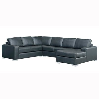 Buy Blue, Leather Sectional Sofas Online at Overstock | Our ...