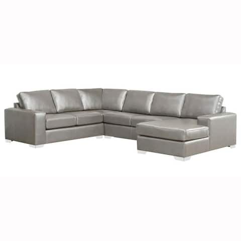 Buy Grey, Leather Sectional Sofas Online at Overstock | Our Best ...