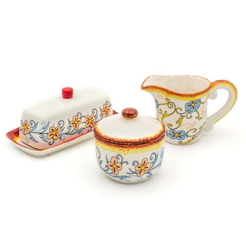 Euro Ceramica Duomo 3 Piece Sugar/Creamer Breakfast Accessory Set