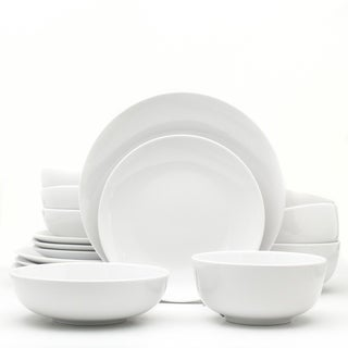 Link to Euro Ceramica White Essential 16 Piece Porcelain Dinnerware Set Similar Items in Dinnerware