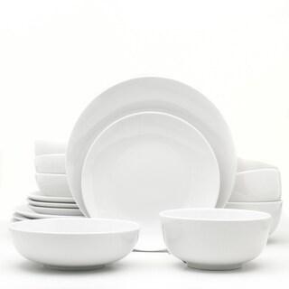 Euro Ceramica White Essential 16 Piece Dinnerware Set