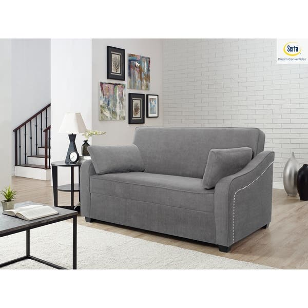 Stupendous Shop Serta Hudson Convertible Sofa With Power Strip On Ibusinesslaw Wood Chair Design Ideas Ibusinesslaworg