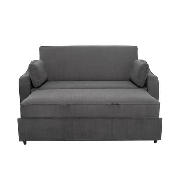 Astounding Shop Serta Hudson Convertible Sofa With Power Strip Free Download Free Architecture Designs Itiscsunscenecom
