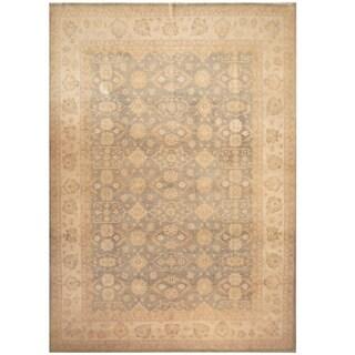 Handmade Vegetable Dye Oushak Wool Rug (Afghanistan) - 9'9 x 13'8