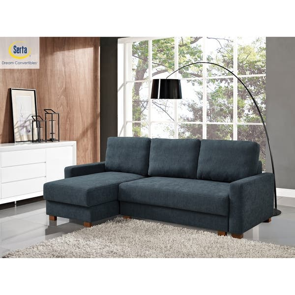 Marvelous Shop Serta Leslie 3 Seat Sectional Sofa With Storage On Gmtry Best Dining Table And Chair Ideas Images Gmtryco