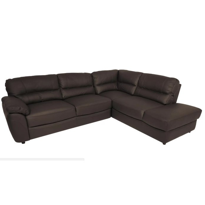 BALTIMOR Leather Sectional Sleeper Sofa