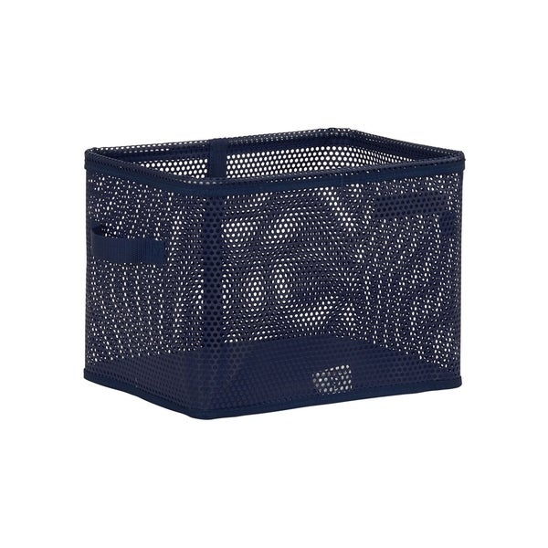 Eva Medium Mesh Bin, Navy, 10H x 13.25W x 10.25D