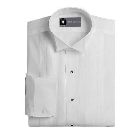 Henry Segal Men's Tuxedo Shirt Wing Collar 1/8 Inch Pleat