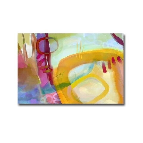Veiled Colors I by Delores Naskrent Gallery Wrapped Canvas Giclee Art (24 in x 36 in, Ready to Hang)