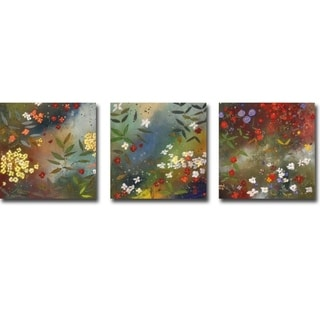 Gardens in the Mist I, II, & III by Aleah Koury 3-pc Gallery Wrapped Canvas Giclee Art Set (Ready to Hang)