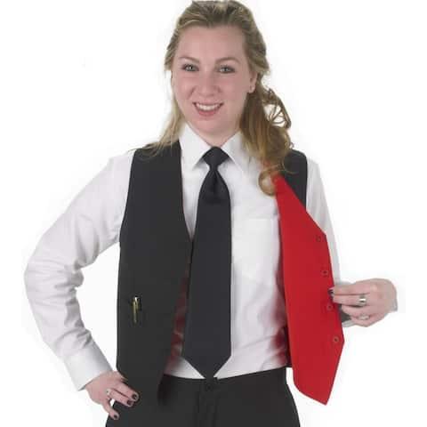 Henry Segal Women's Tailored Reversible Woven Uniform Vest