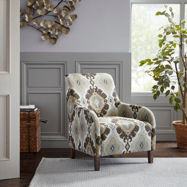 33 By 28 Accent Chair: Shop Madison Park Tampa Silver Blue Multi Accent Chair